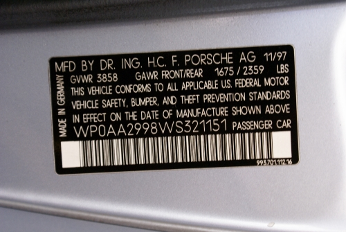 Used 1998 Porsche 911 Carrera 4S
