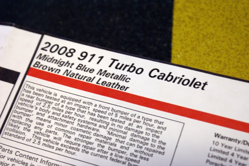 Used 2008 Porsche 911 Turbo Cabriolet
